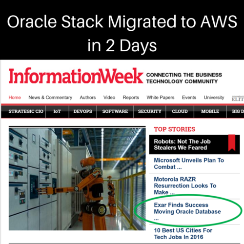 Oracle Stack Migrated to AWS in 2 Days