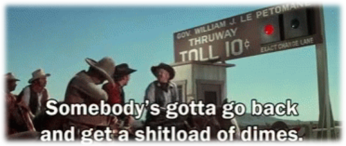 Blazing Saddles tollbooth